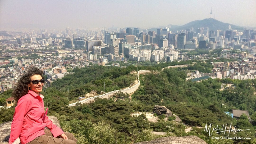 Best View Of Seoul From Guksadang Shrine On Mt Inwang San