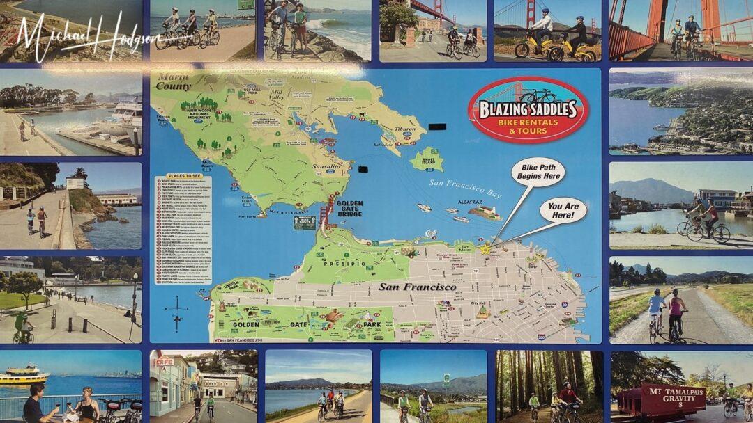 Blazing Saddles Bike Rental Display In Store