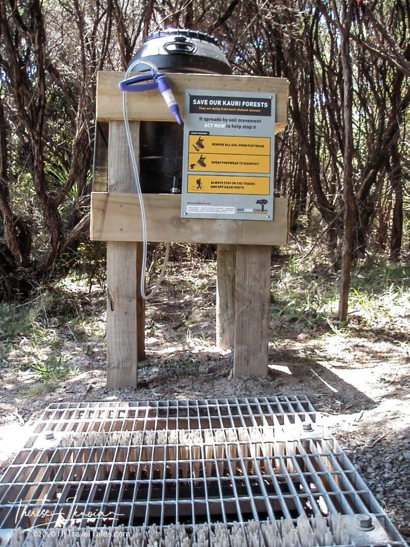 Boot Washing Stations At Tawharanui In New Zealand