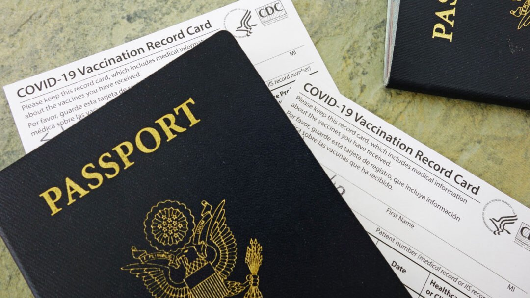 US Passport and CDC Covid-19 Vaccination Record Cards