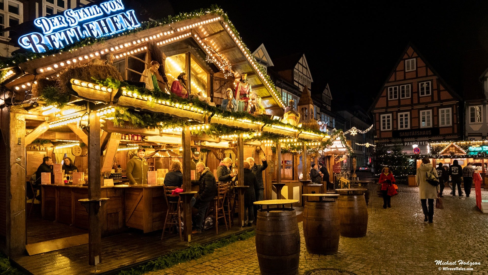 German Christmas market drinks