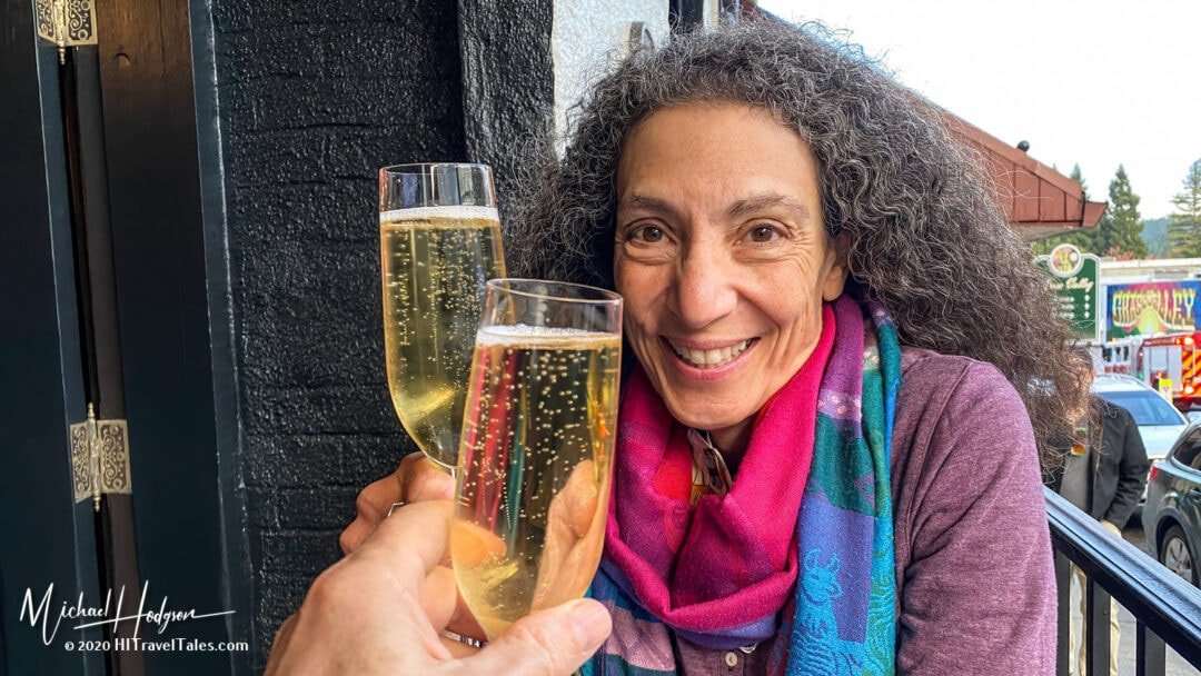 Therese Iknoian Champagne Toast At The Historic Holbrooke Hotel