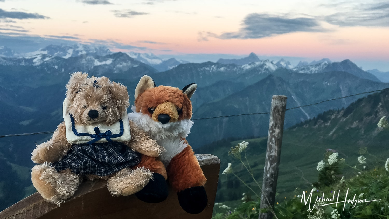Charlotte And Fox Fury In Austria At Sunrise