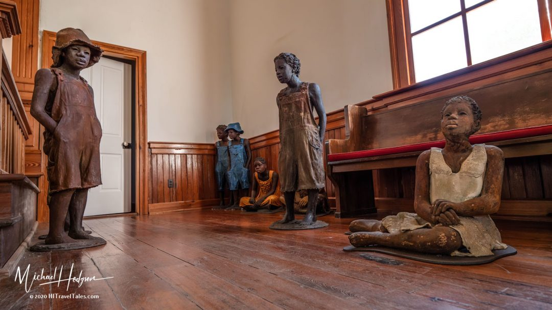 The Children Of Whitney Statues Inside the church building