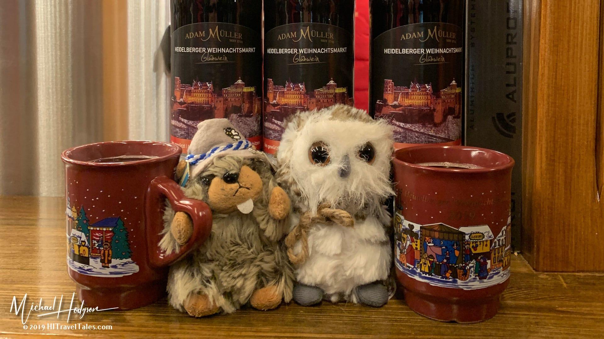 Dr Whoo And Herr Widderstein Drinking Gluhwein