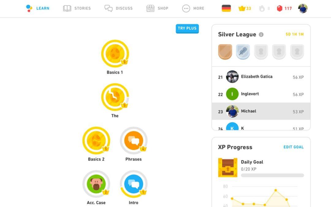 Duolingo Learning Languages App