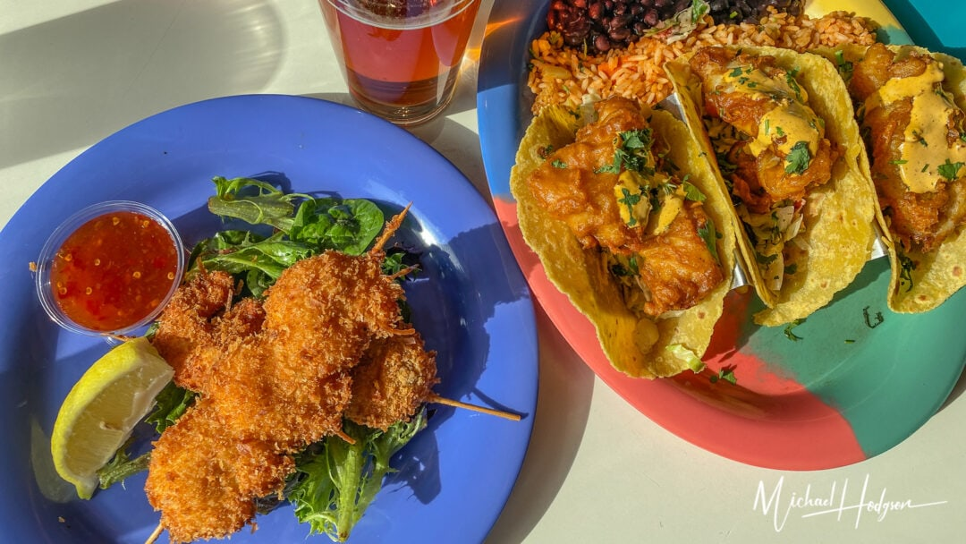 Fish Tacos Pier 39 Restaurant Wipe Out Bar Grill