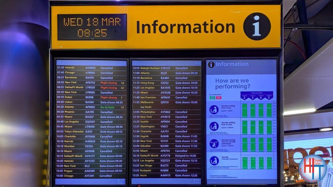 Flight Cancelations Heathrow Airport