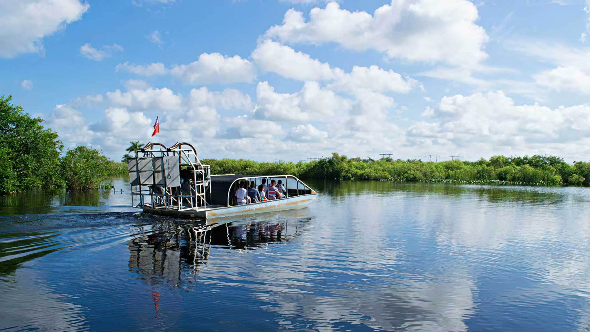 Florida Adventures Airboat Heading Out
