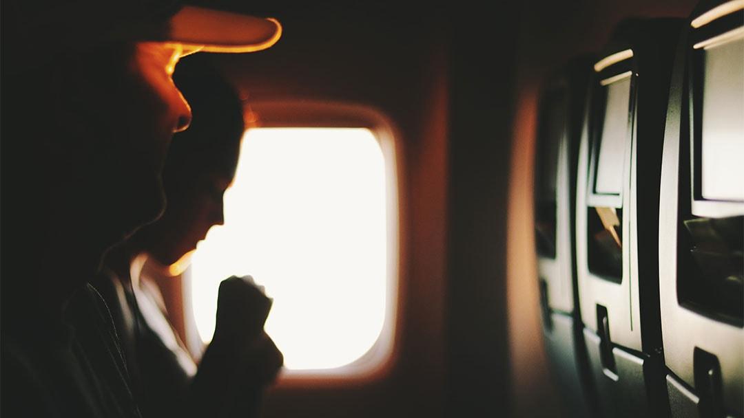 Flying Sucks Airplane Window