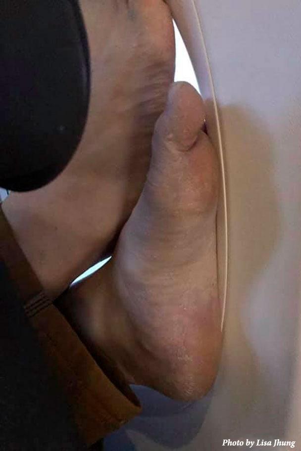 Flying Sucks Feet By Window
