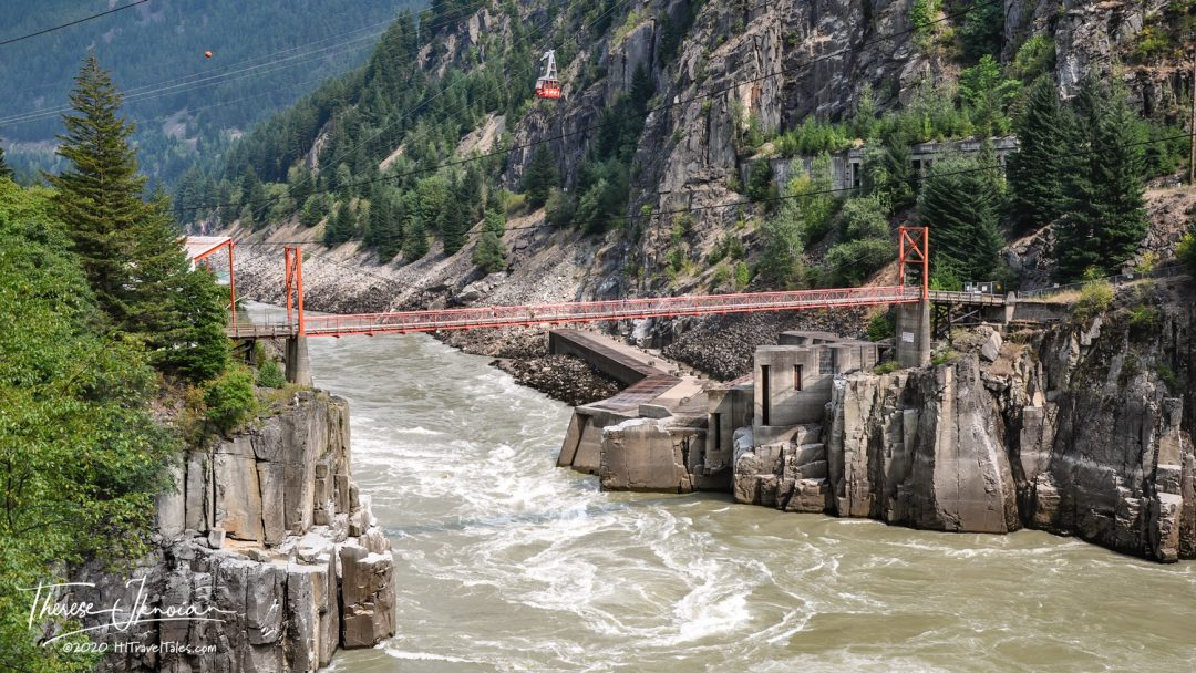 Crossing Over The Fraser River At Hells Gate On A Rocky Mountain