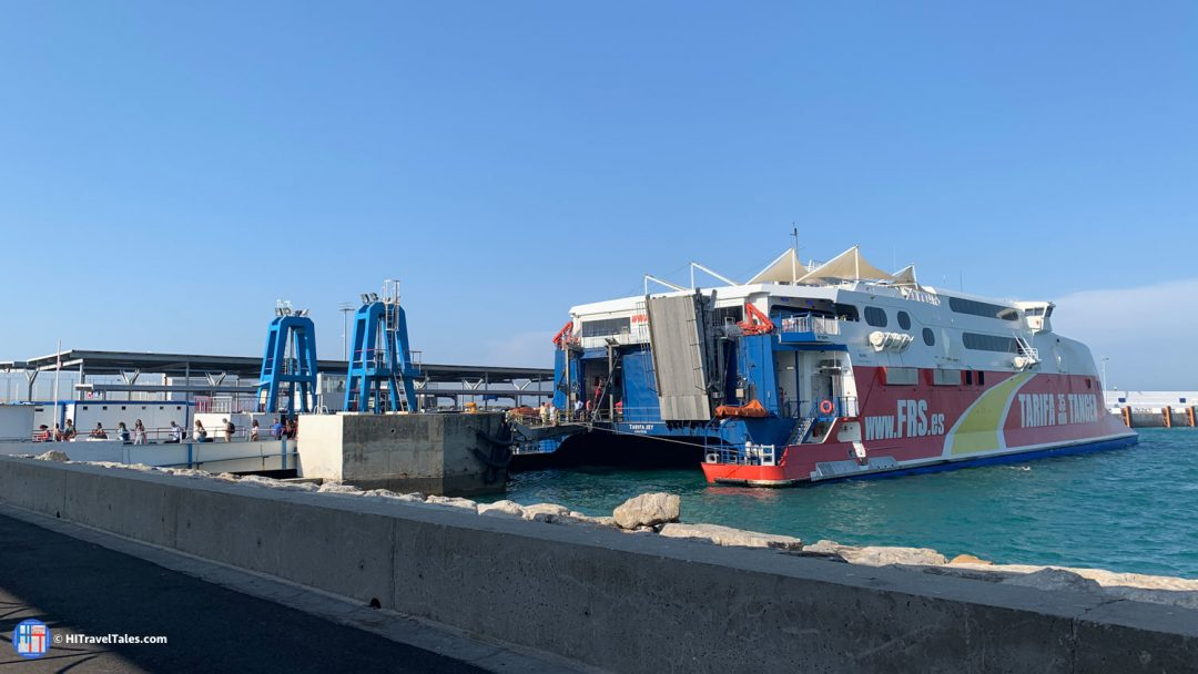 FTS Ferry Arrival In Tangier Morocco