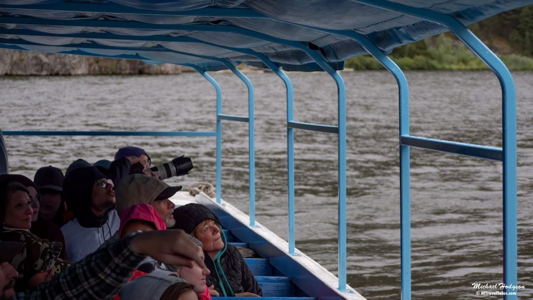 Gates Of The Mountains Boat Tour Participants In The Rain