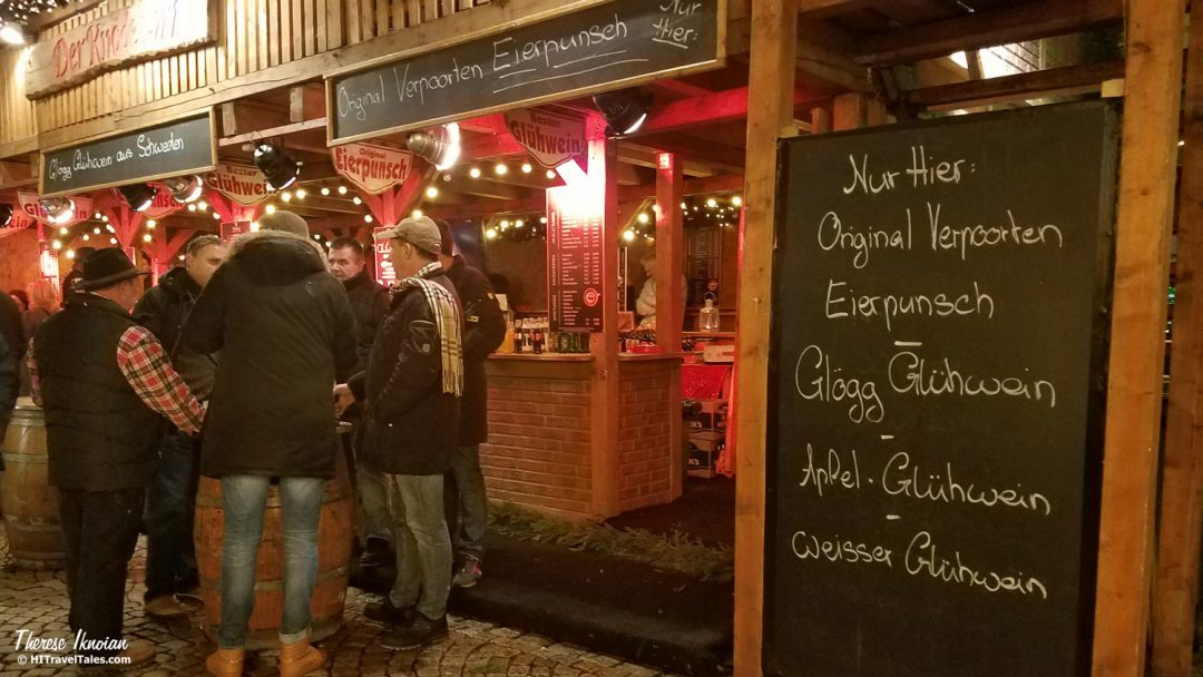 German Christmas Market Drinks Menu