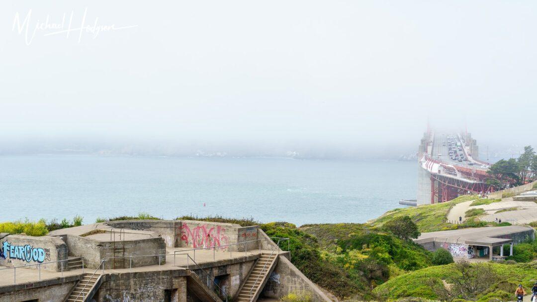 Golden Gate Overlook Presidio In The Fog