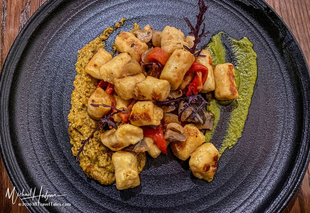 Grilled Gnocchi Dinner Plate At The Historic Holbrooke Hotel