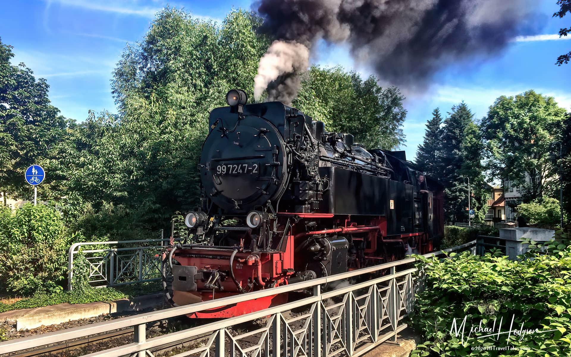 Steam Engine On The Brockenbahn Narrow Gauge Railway In The Harz