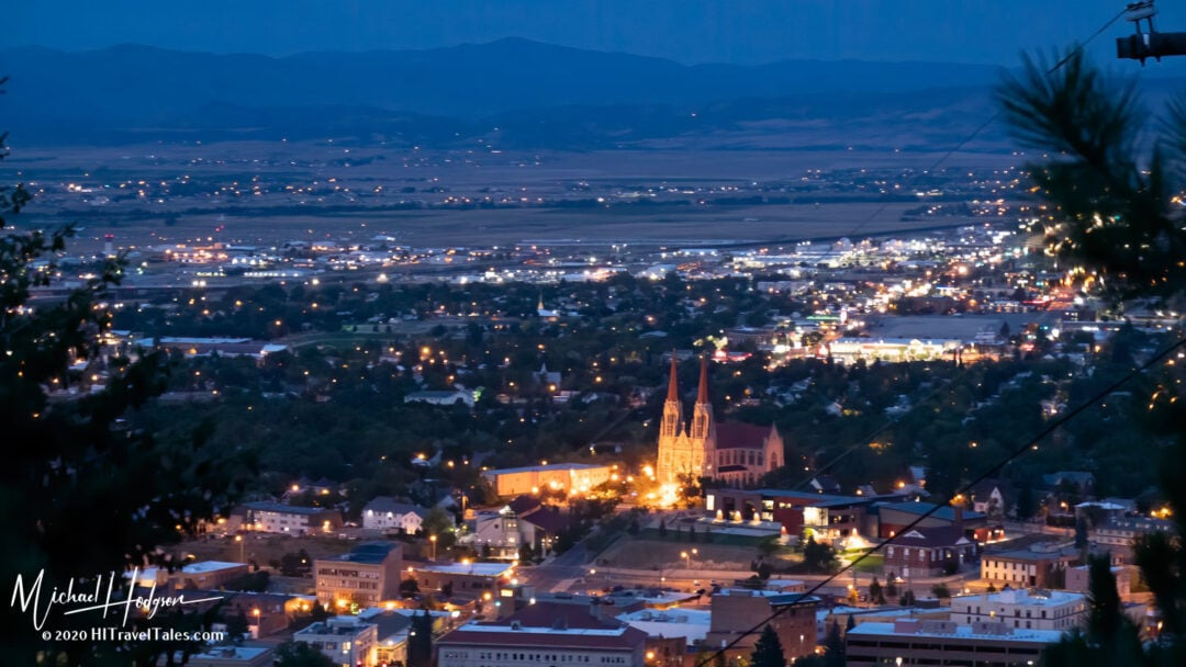 Helena At Night From The Summit Of Mount Helena