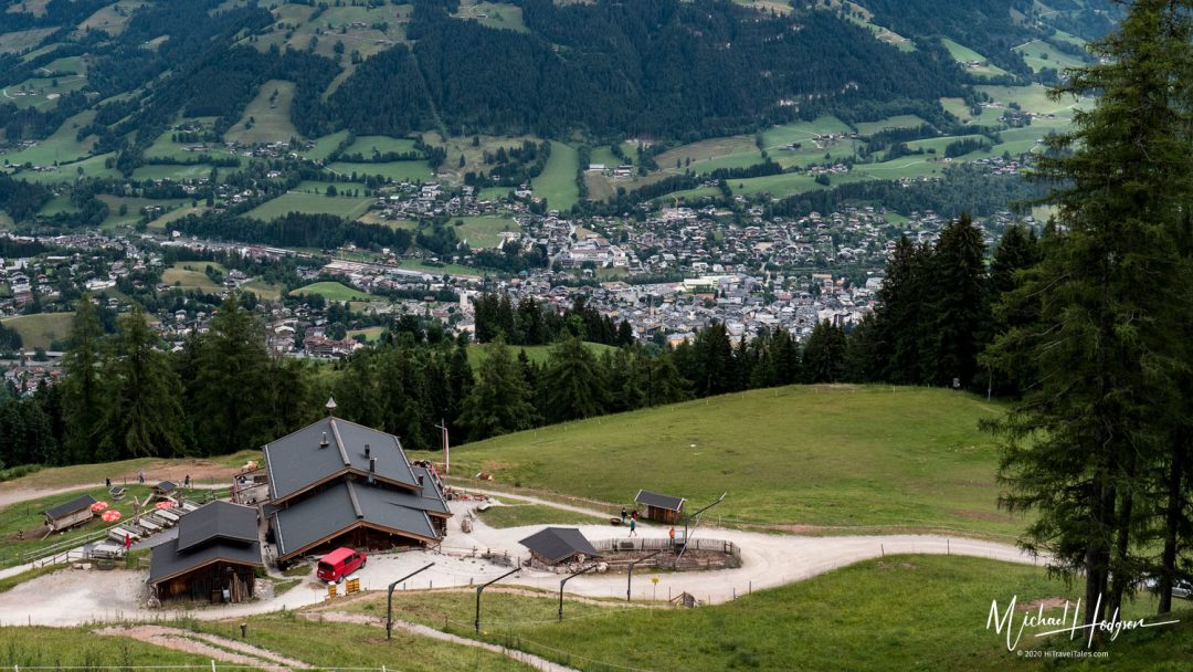 Hiking The Streif The Seidlalm Chalet And Kitzbuhel Below