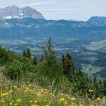 Conquering the Streif ski run by hiking the Streif in Kitzbuhel Austria