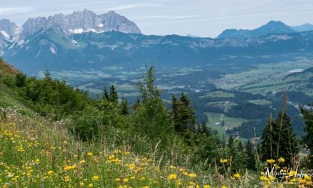 Conquering the Streif ski run by hiking the Streif in Kitzbuhel Austria