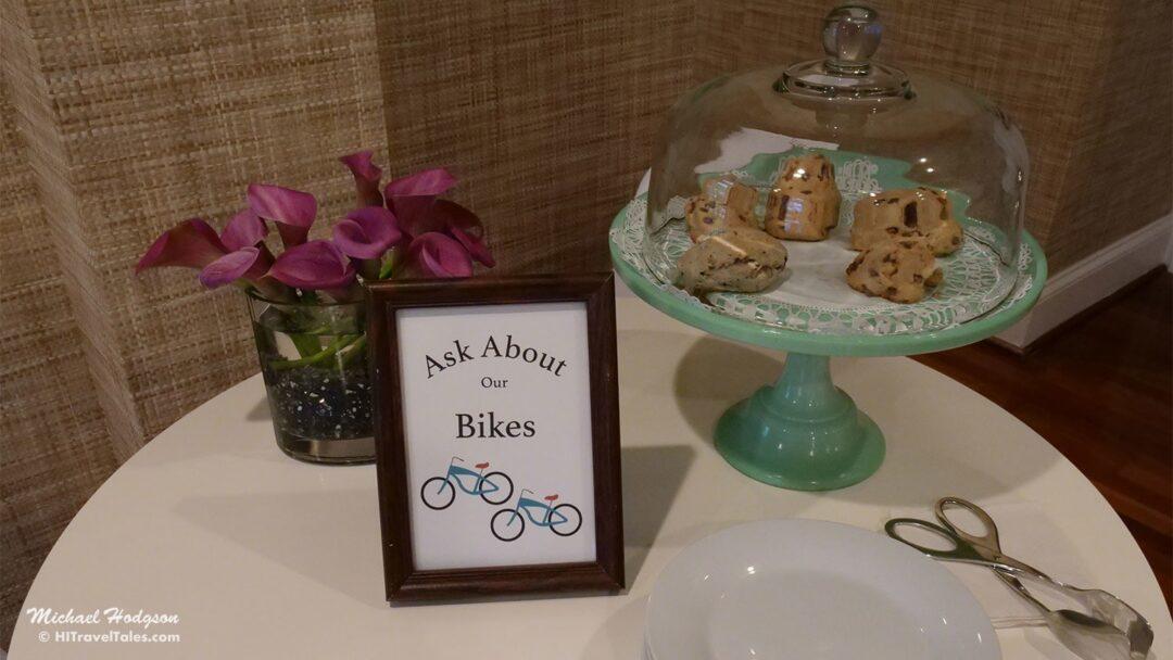 Hotel Marblehead Cookies Bikes