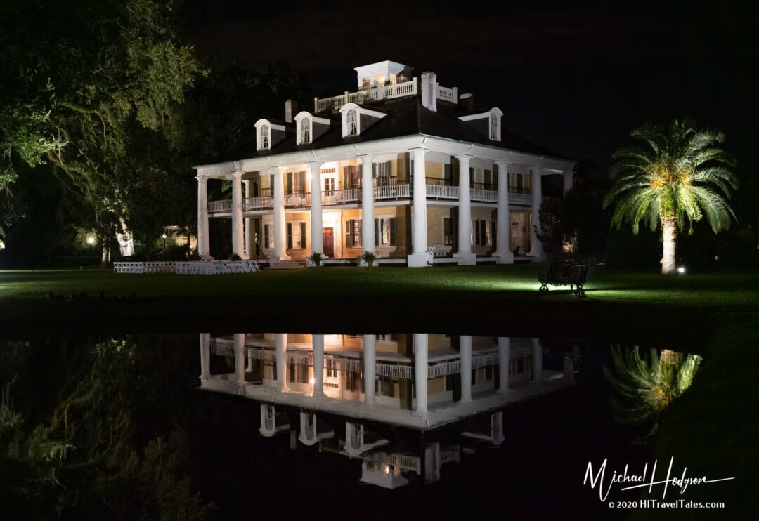 Houmas House Plantation Reflections At Night