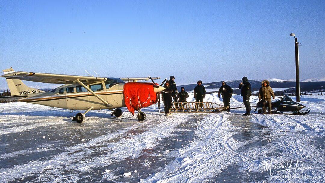 Airport And Toboggan Shuttle At White Mountain Alaska