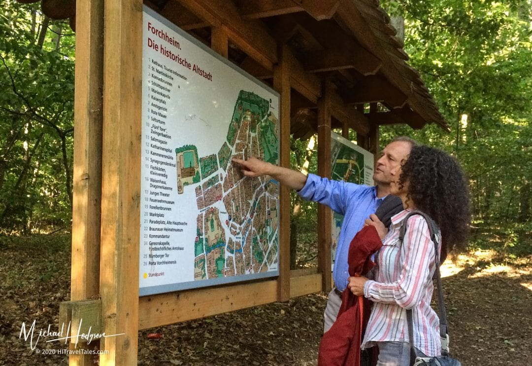 """Looking At A Map Of The """"Kellerwald"""""""