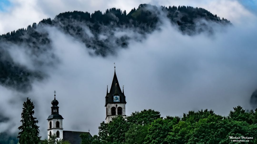 Kitzbühel Clouds And Church Steeples