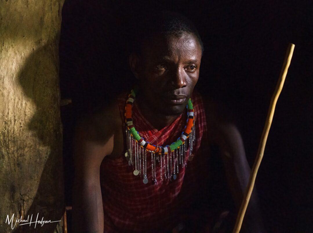 Masai Warrior Shadows And Light