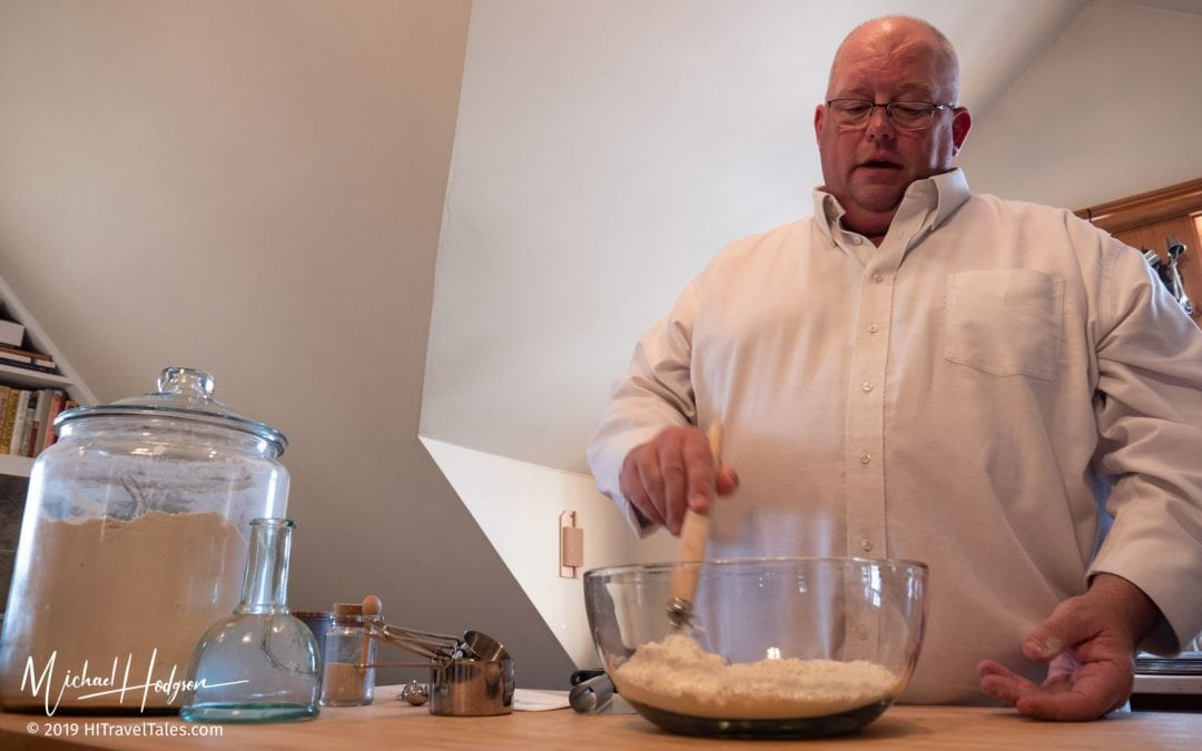 Carriage House Cooking School Chef Curtiss Hemm Mixing Flour Sal