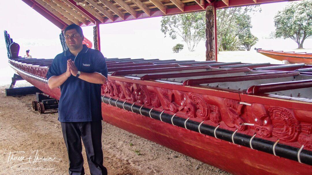 Maori War Canoe At The Waitangi Treaty Grounds