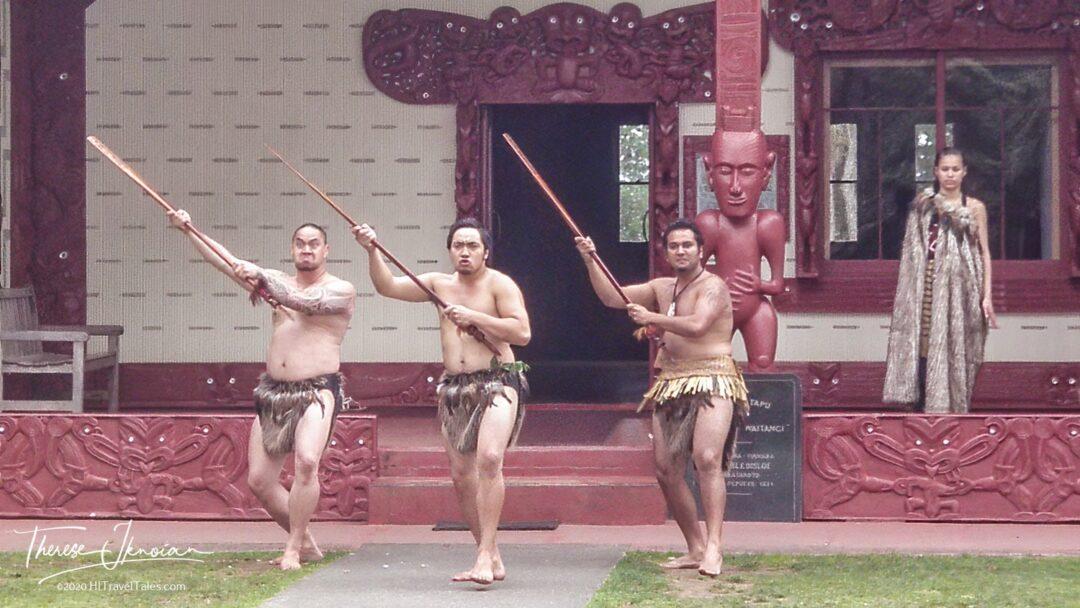 Waitangi Treaty Grounds Meeting House Maori Greeting