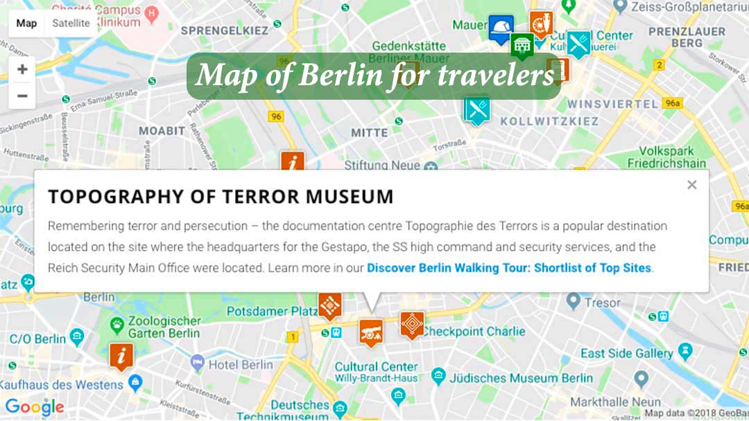 Map of Berlin for travelers