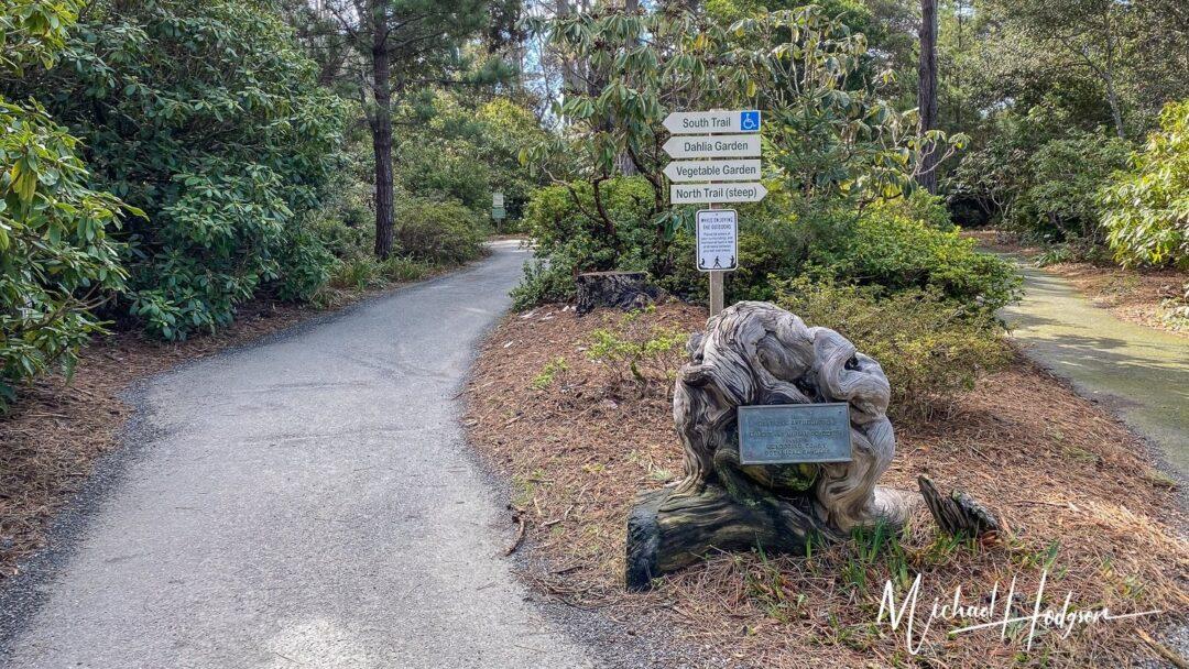 Mendocino Coast Botanical Gardens Trail Signs