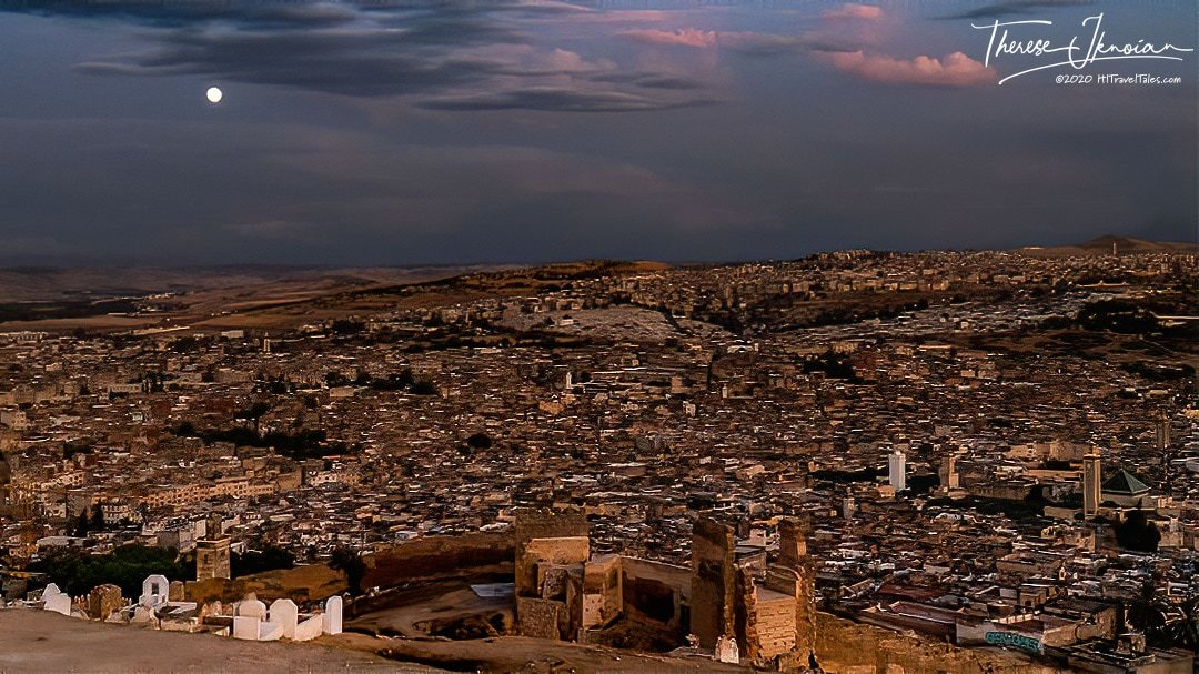 Marinid Tombs above Fez, Morocco