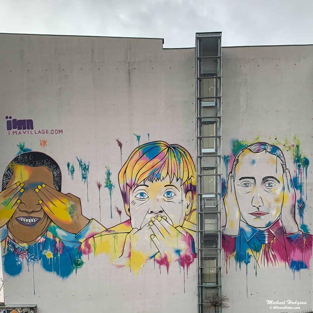 Obama Merkel Putin Street Art