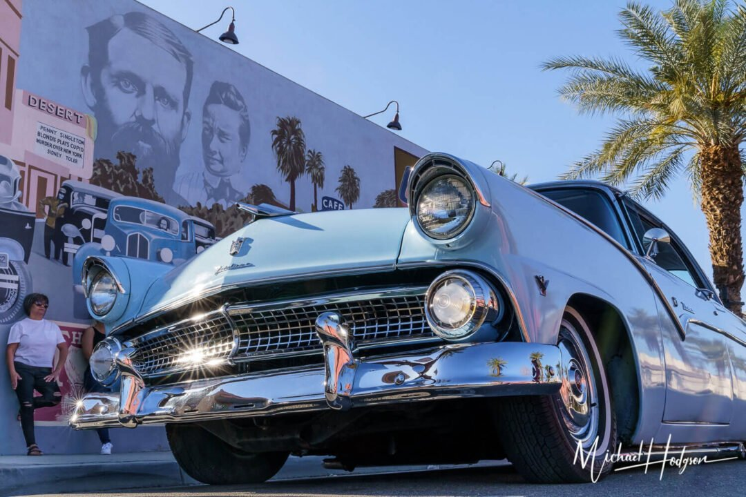 Old Indio Mural With Classic Car