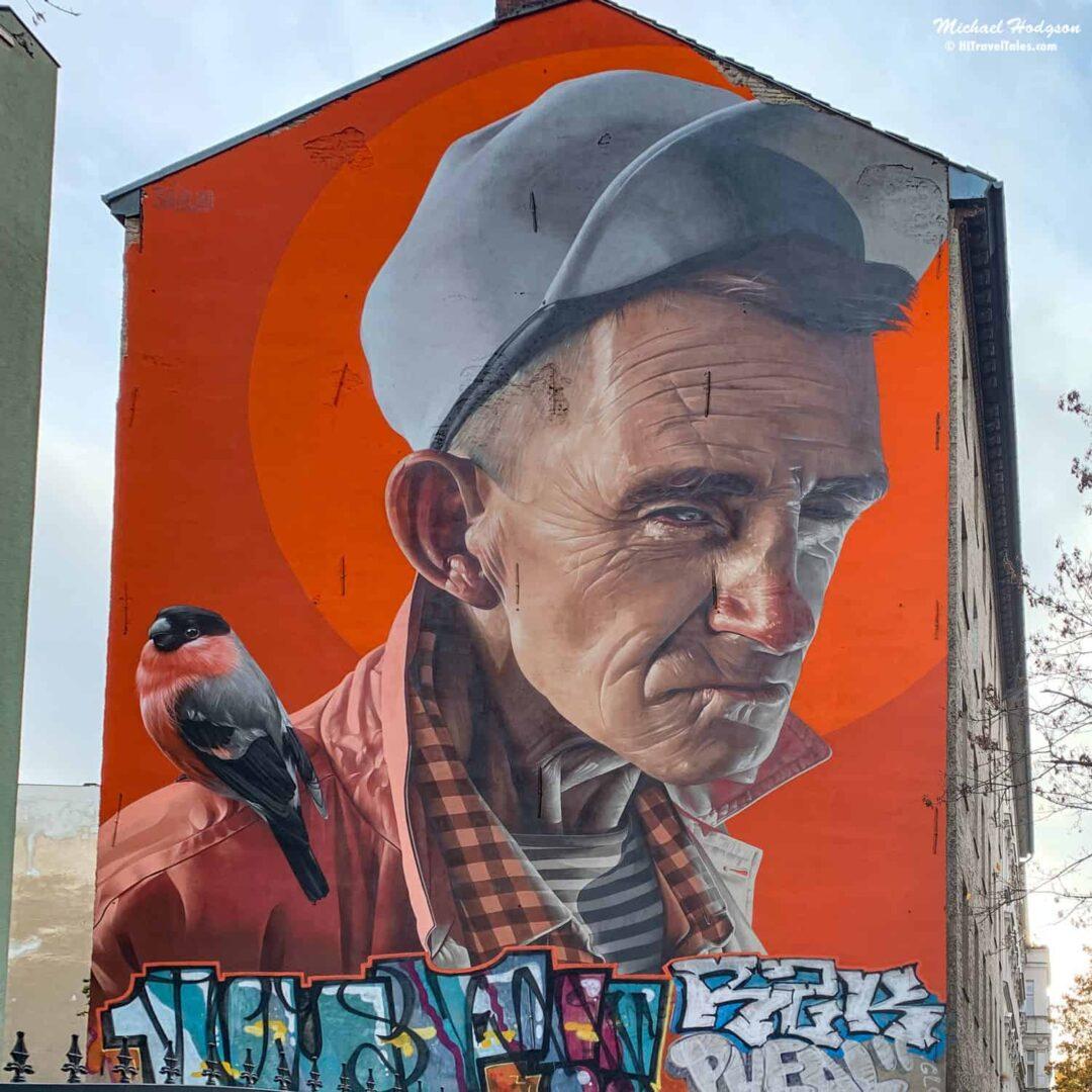Old Man On Manteuffelstr Berlin