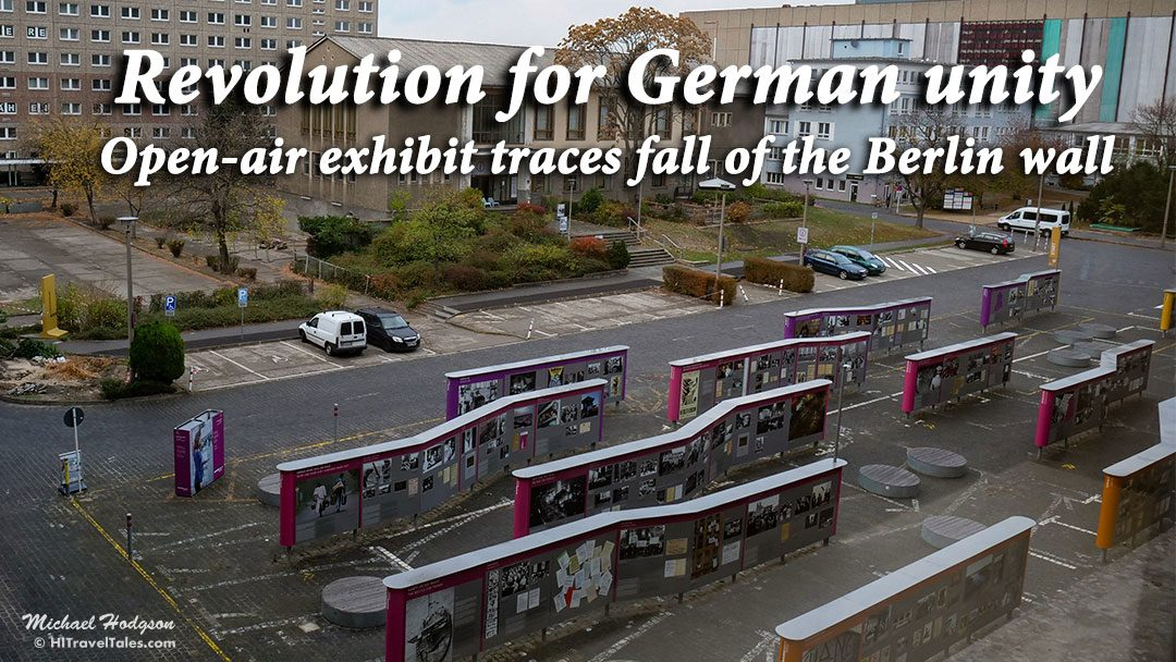 Open-air exhibit traces fall of the Berlin wall