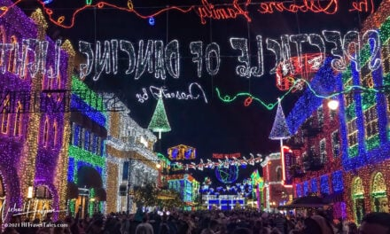 Disney World Christmas light show was extraordinary and fun