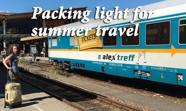 Packing light for summer travel: 10 easy tips