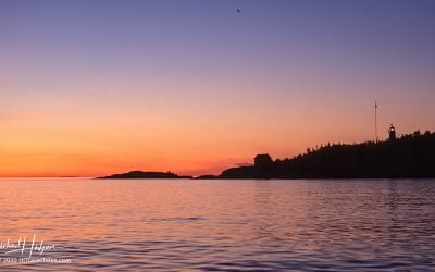 Otter Island Lighthouse in Pukaskwa National Park, Ontario Canada