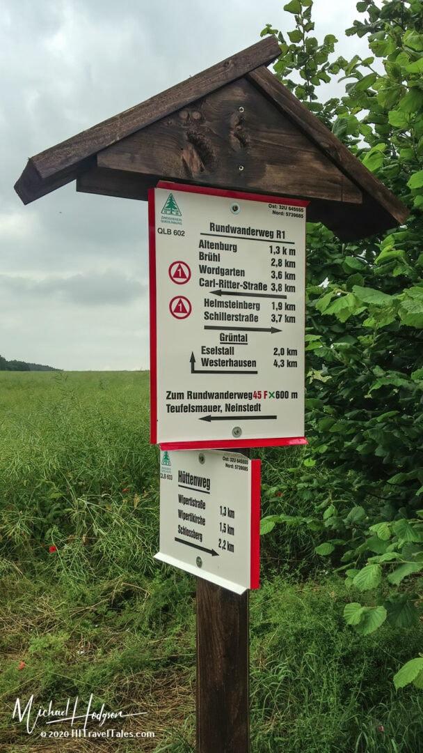 Quedlinburg Hiking Sign
