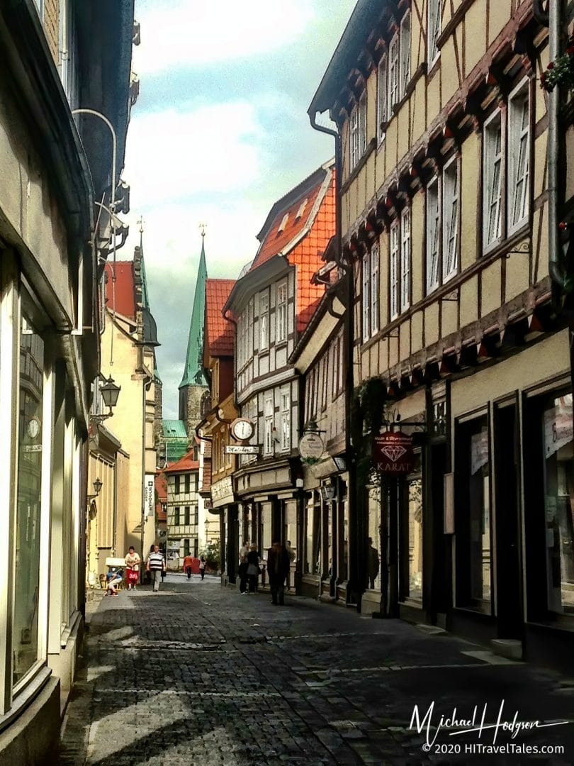 Narrow Streets Of Quedlinburg In The Harz Mountains