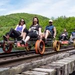 Rail Biking: Riding the rails on a rail bike with Revolution Rail