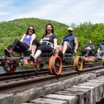 Railbiking: Riding the rails on a railbike with Revolution Rail