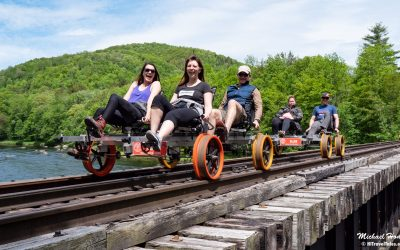 Rail Biking: Riding the rails on a rail bike with Revolution Rail
